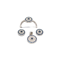 EVIL EYE STERLING SILVER ROUND SET