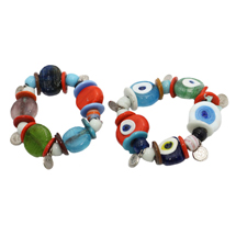 EVIL EYE COLORFUL GLASS BRACELET