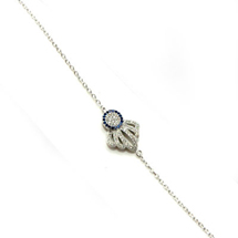 EVIL EYE SILVER CROWN BRACELET