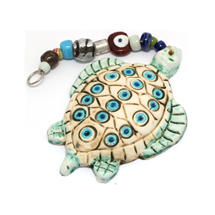 EVIL EYE CERAMIC TURTLE WALL HANGING