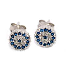 EVIL EYE SILVER ROUND EARRINGS