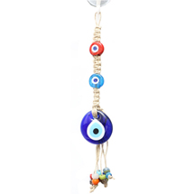 SMALL GLASS EVIL EYE HOME WALL HANGING