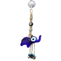 GLASS EVIL EYE WALL HANGING (BABY ELEPHANT)