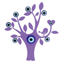 EVIL EYE TREE OF LIFE METAL REFRIGERATOR MAGNET
