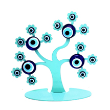 EVIL EYE TREE OF LIFE METAL TABLE SHOWPIECE