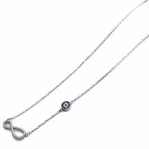 EVIL EYE SILVER INFINITY NECKLACE