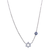 EVIL EYE SILVER STAR NECKLACE