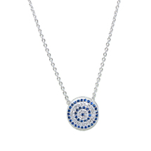 EVIL EYE SILVER ROUND NECKLACE
