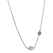 EVIL EYE ROSE COLORED NECKLACE