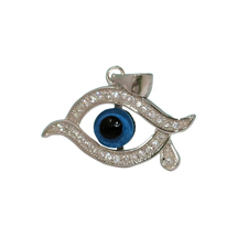 EVIL EYE SILVER PENDANT WITH TEARDROP