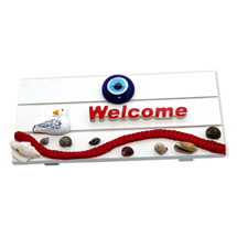 EVIL EYE WELCOME WOODEN
