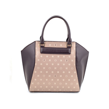 MATMAZEL GOLD BROWN TOTE HANDBAG