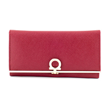 MATMAZEL BURGUNDY SINGLE-COLORED CLUTCH