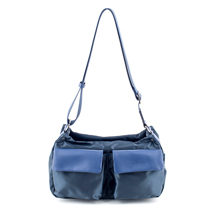 MATMAZEL NAVY BLUE POCKETED HANDBAG