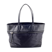 MATMAZEL BLACK ZIPPERED TOTE HANDBAG
