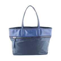 MATMAZEL NAVY BLUE ZIPPERED TOTE HANDBAG