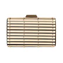 MATMAZEL GOLD BIG CLUTCH HANDBAG