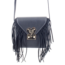 MATMAZEL BLACK MESSENGER BAG WITH TASSELS