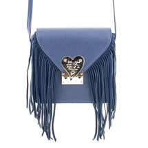 MATMAZEL NAVY BLUE MESSENGER BAG WITH TASSELS
