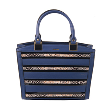 MATMAZEL NAVY BLUE STRIPED TOTE BAG
