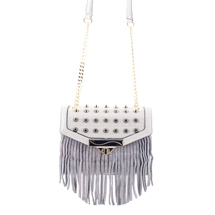 MATMAZEL GREY PARTY MESSENGER HANDBAG