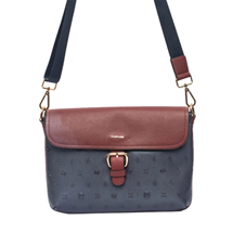 MATMAZEL  NAVY BLUE BURGUNDY LADIES HANGBAG