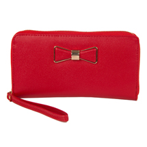 MATMAZEL RED WRISTLET CLUTCH