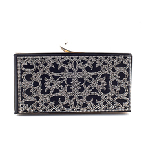 MATMAZEL BLACK SINGLE-SIDE PRINTED CLUTCH