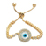 EVIL EYE GOLD PLATED ROUND BRACELET